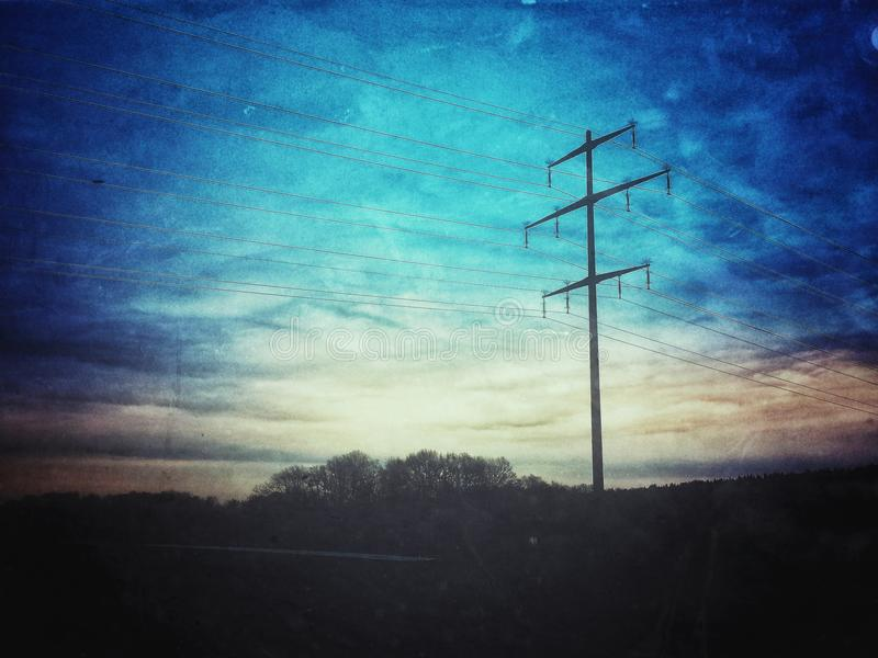 Energie-Mast lizenzfreies stockfoto