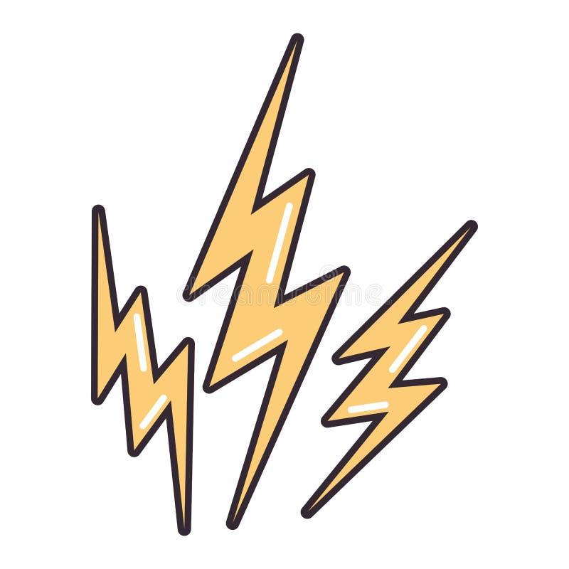 Energie mit drei Blitzen stock abbildung