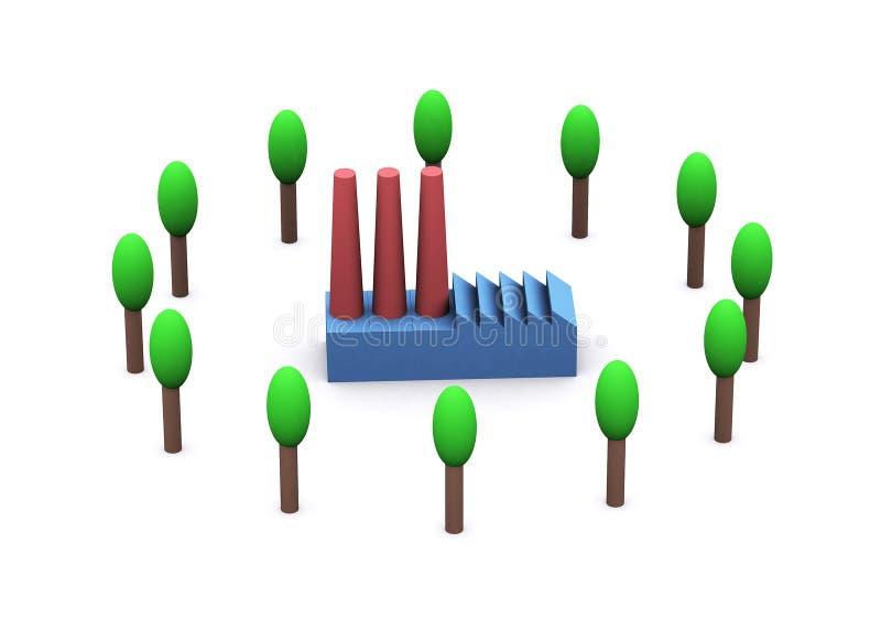 Energie und Umgebung vektor abbildung