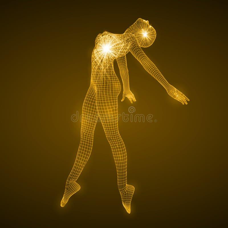 Energie van de dansende vrouw stock illustratie