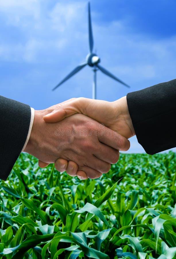 Energieabkommen stockbilder