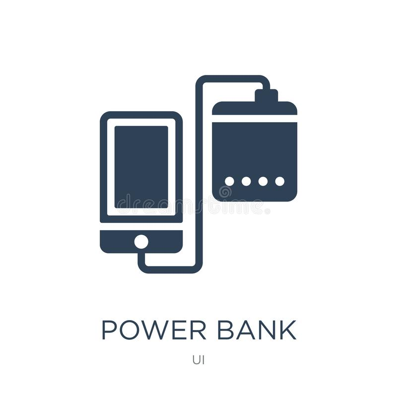 Energiebankikone in der modischen Entwurfsart Energiebankikone lokalisiert auf weißem Hintergrund Energiebank-Vektorikone einfach stock abbildung