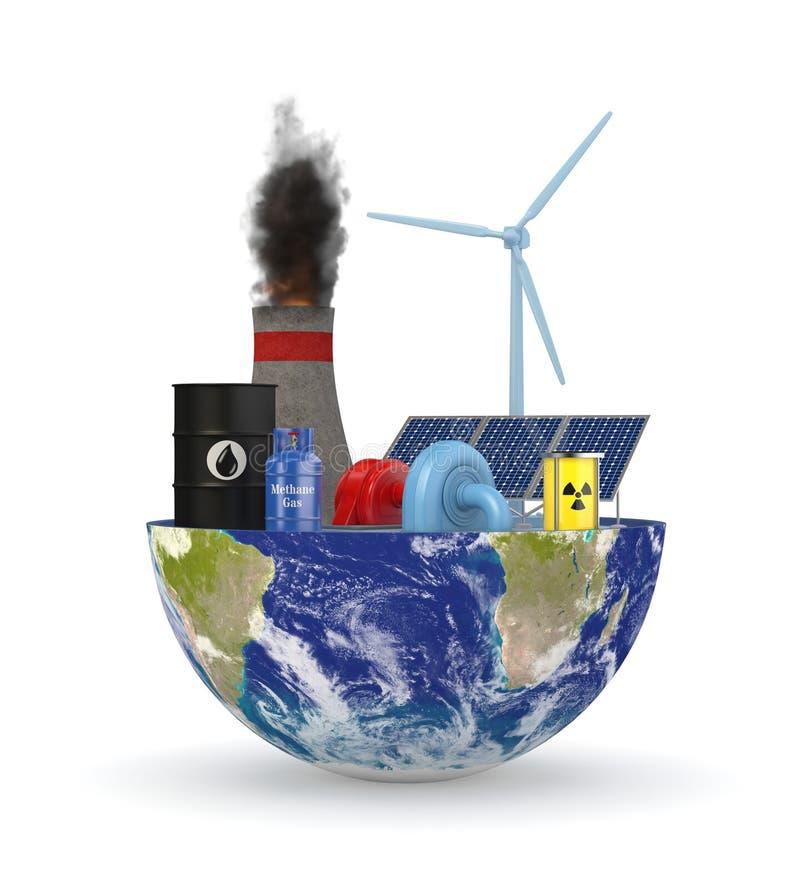 Energiebronnen stock illustratie