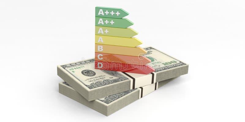 Energieeffizienzbewertung der Wiedergabe 3d lizenzfreie abbildung