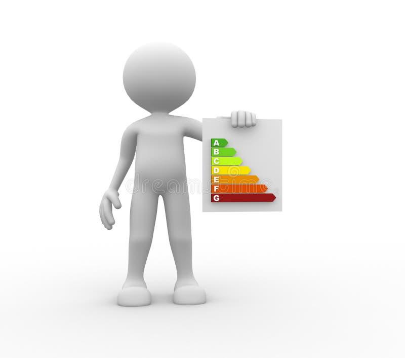 Energieeffizienzkonzept. lizenzfreie abbildung
