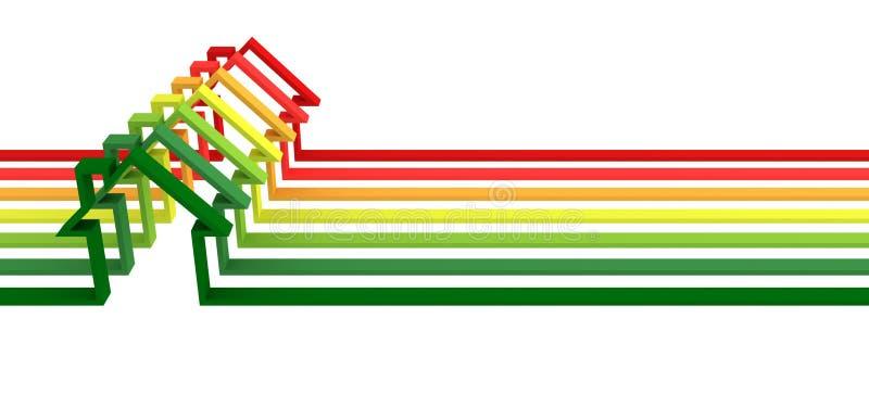 Energieeffizienzkonzepthintergrund vektor abbildung
