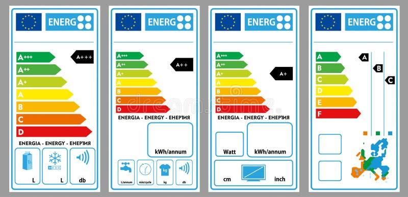 Energieetiketten vector illustratie