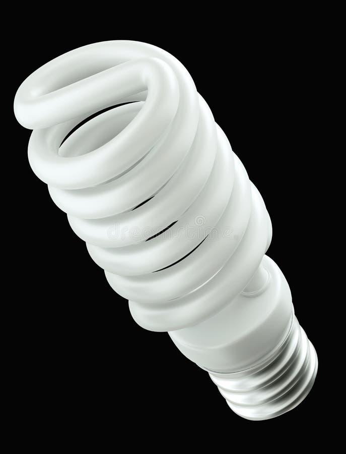 Energieffektivitet: isolerad spiral ljus kula arkivfoton