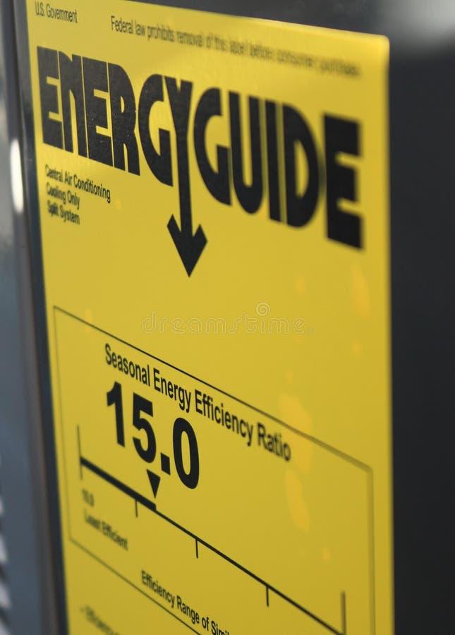 Energiegids stock afbeelding