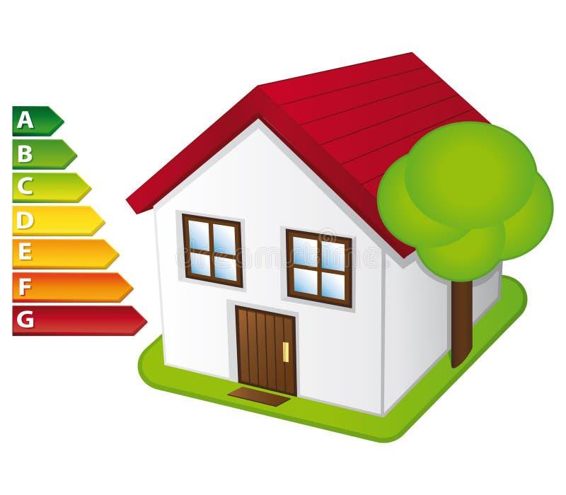 Energiehaus. lizenzfreie abbildung