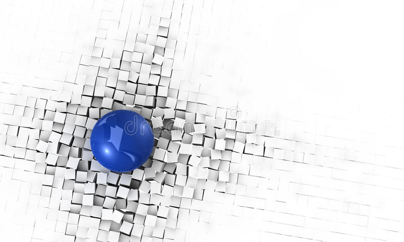 Energiehintergrund der Auswirkung 3D lizenzfreie stockbilder