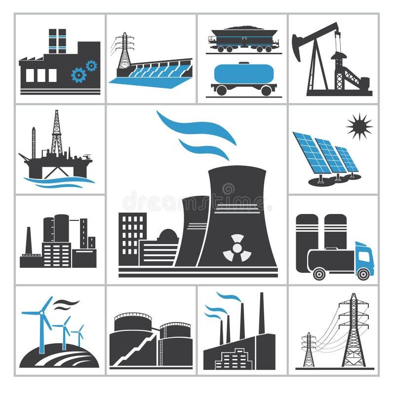 Energieikonen lizenzfreie abbildung