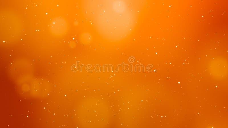 Energiek Oranje Abstract Licht Element Als achtergrond stock afbeeldingen
