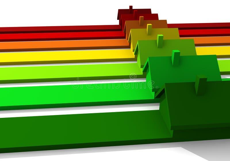 Energiekennsatz lizenzfreie abbildung