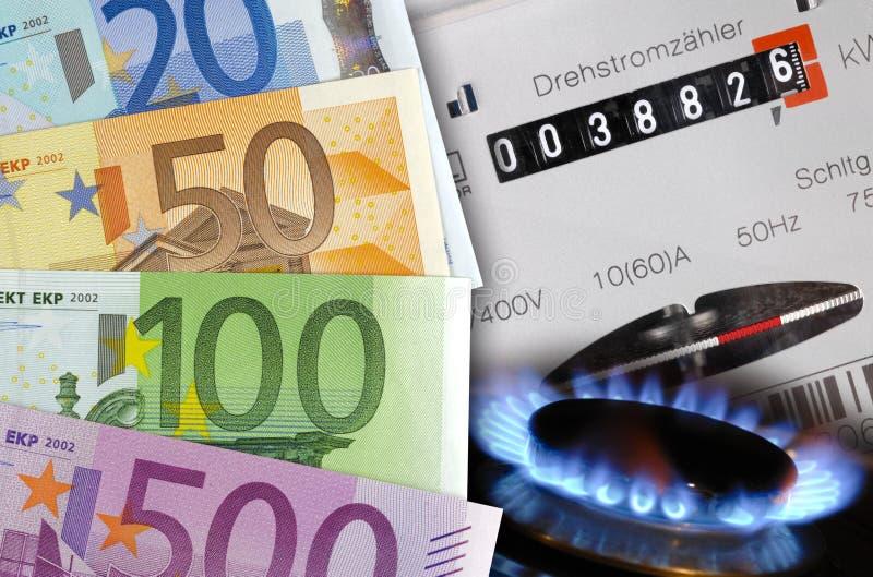 Energiekosten stockbild