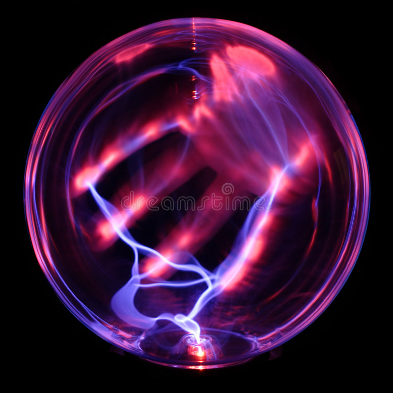 Energiekugel, mit der Hand stockfotografie
