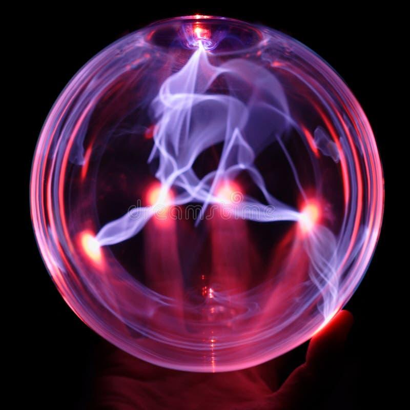 Energiekugel, mit der Hand stockfotos