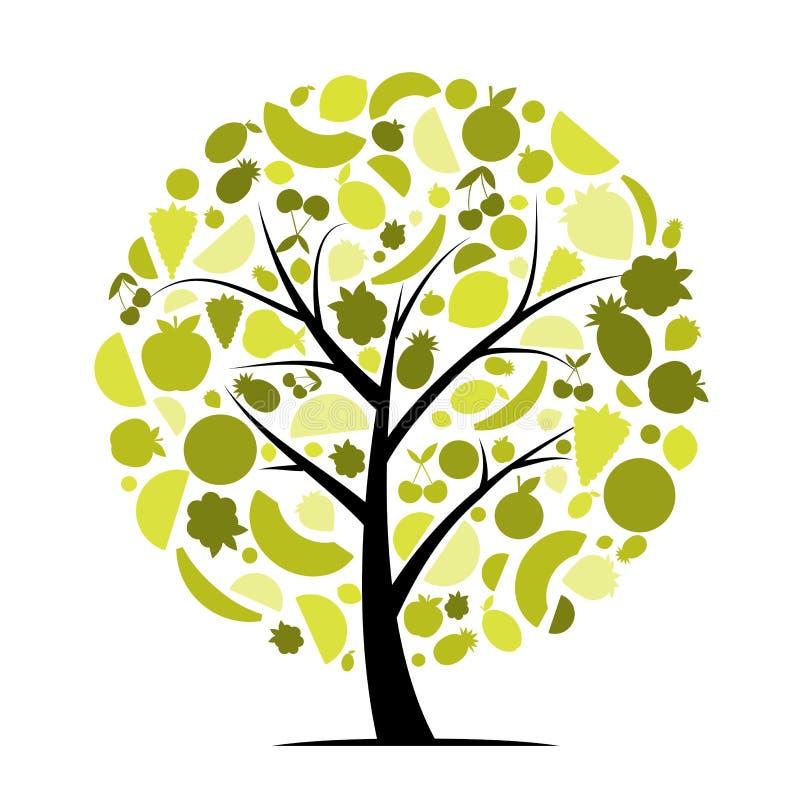 EnergieObstbaum für Ihre Auslegung lizenzfreie abbildung