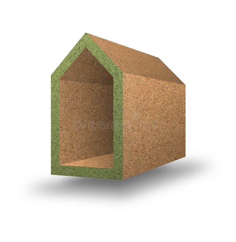 Energierendement - Conceptenbeeld met gekleurde huizen in corck stock illustratie