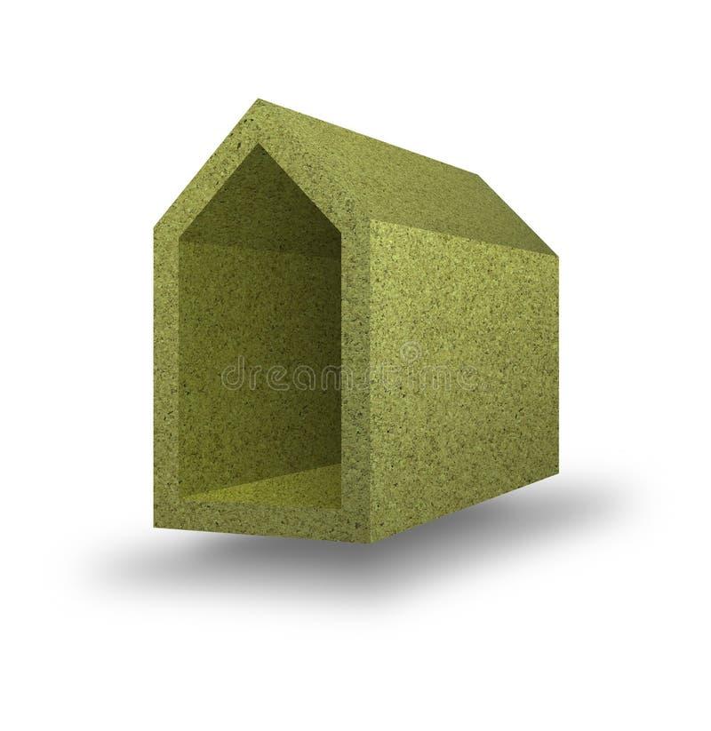 Energierendement: huisconcept met muren c thermaal wordt geïsoleerd dat vector illustratie