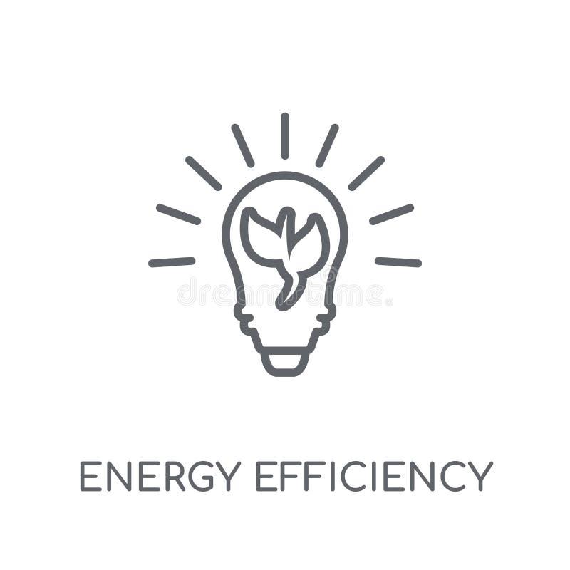 energierendement lineair pictogram Modern overzichtsenergierendement royalty-vrije illustratie