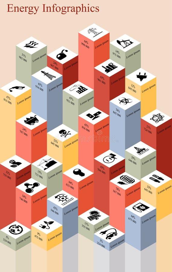 Energieriegel infographics lizenzfreie abbildung