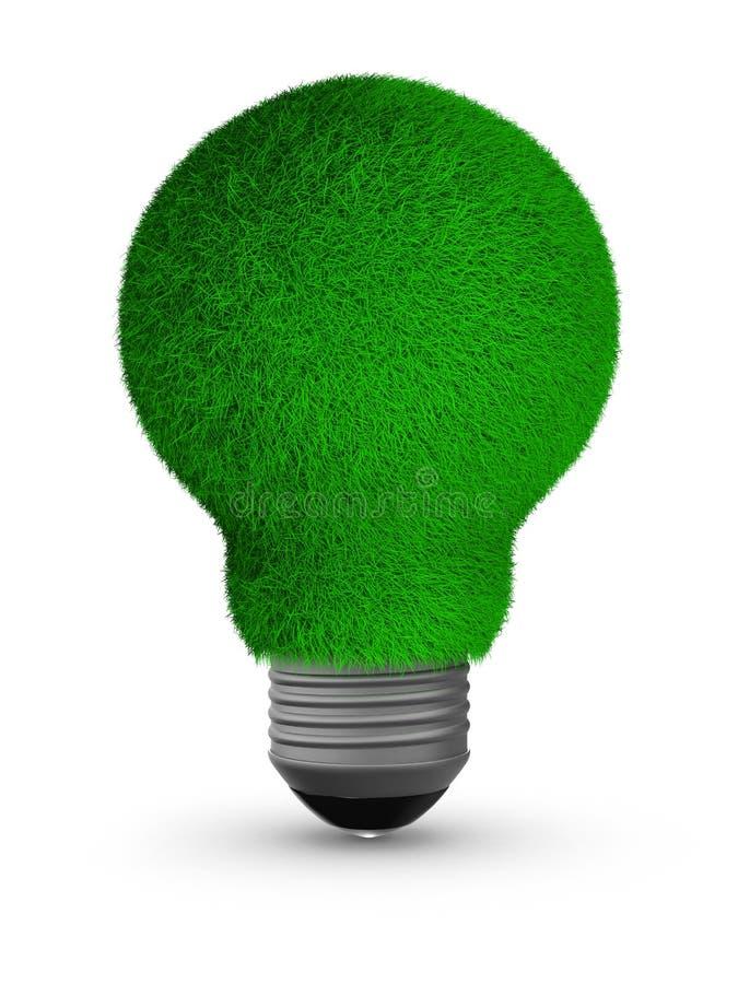 Energiesparende Birne auf weißem Hintergrund stock abbildung
