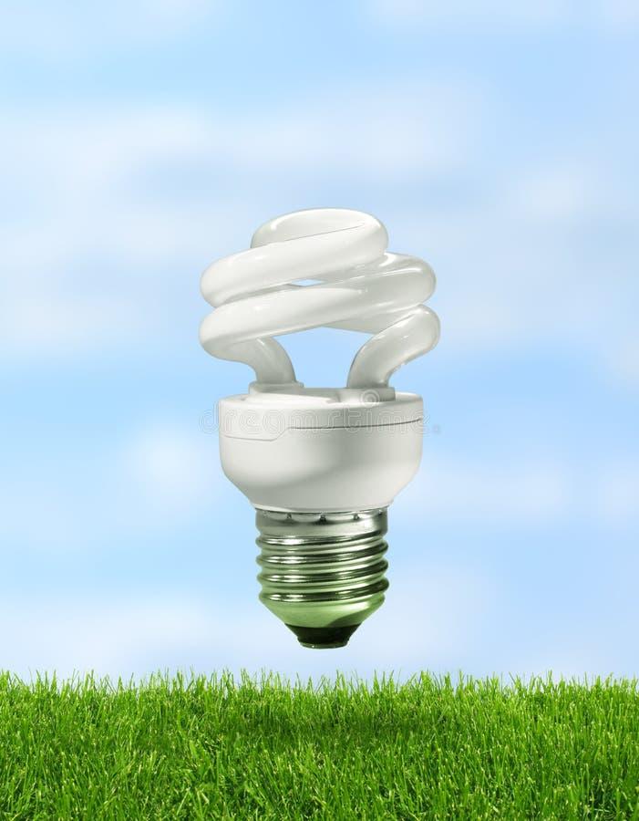 Energiesparende kompakte Leuchtstofflampe lizenzfreies stockbild