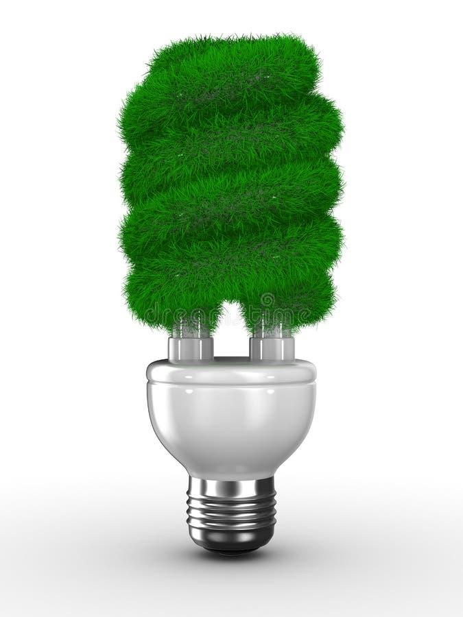 Energiesparender Fühler auf weißem Hintergrund stock abbildung