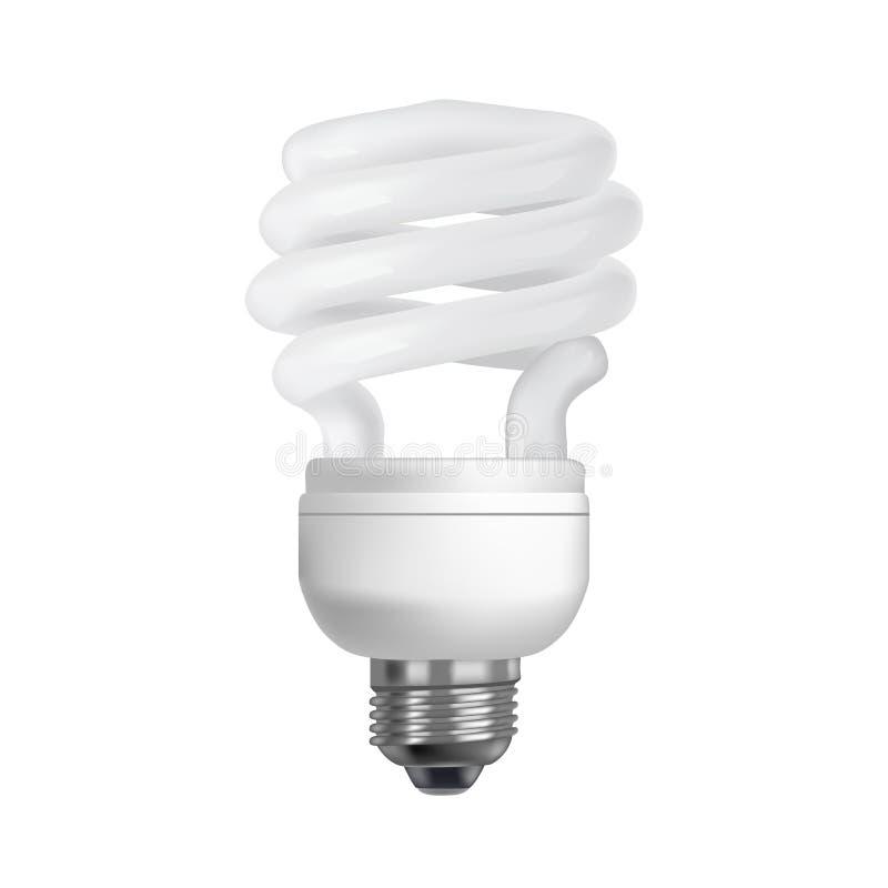 Energiesparender Fühler auf weißem Hintergrund Realistische Abbildung lizenzfreie abbildung