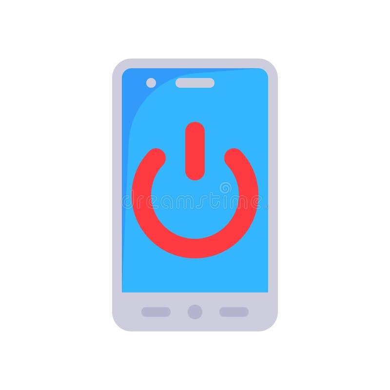 Energiesymbool op apparaat, pictogram voor vlakontwerp van de toekomstige technologie stock illustratie