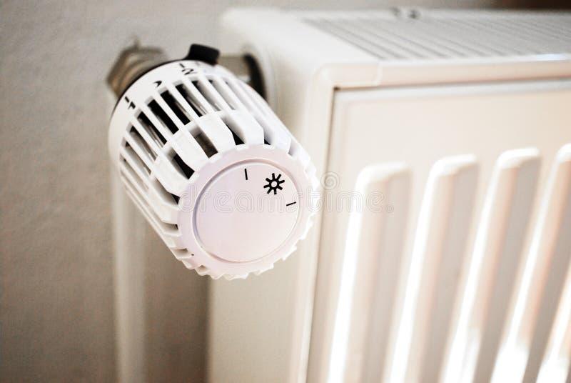Energiethermostat stockbilder