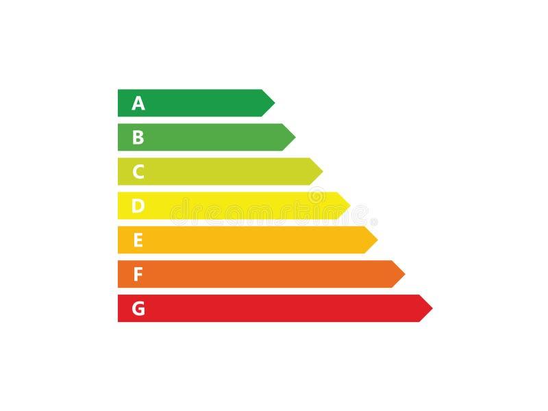 Energietikettsymbol stock illustrationer