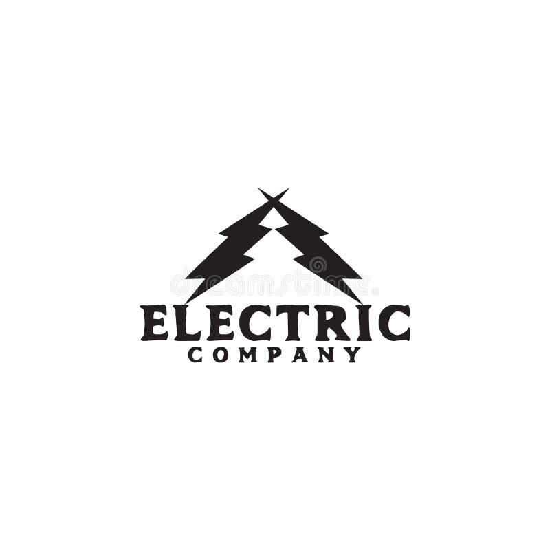 Energieunternehmenlogoentwurfs-Vektorschablone lizenzfreie abbildung