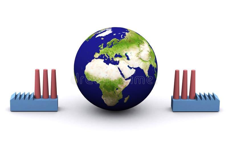 Energieverbrauch (Europa) lizenzfreie abbildung