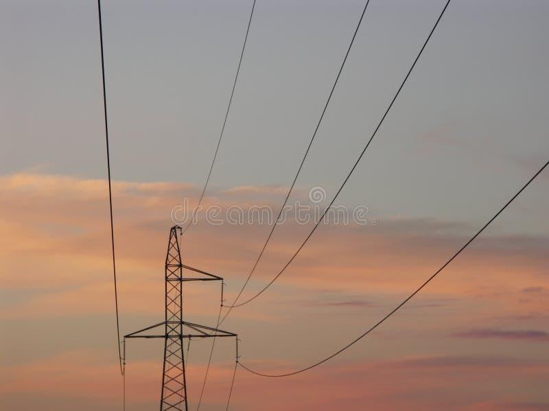 Energiezeile stockbild