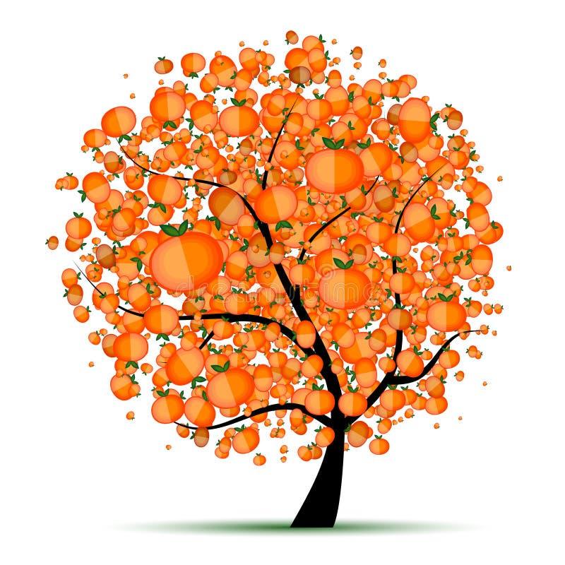 Energiezitrusfruchtbaum für Ihre Auslegung lizenzfreie abbildung