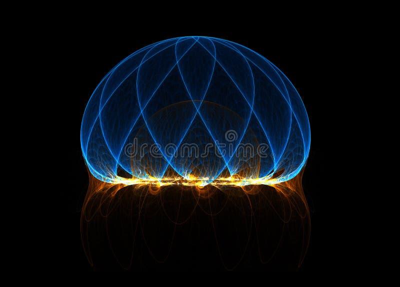 energifält royaltyfri illustrationer