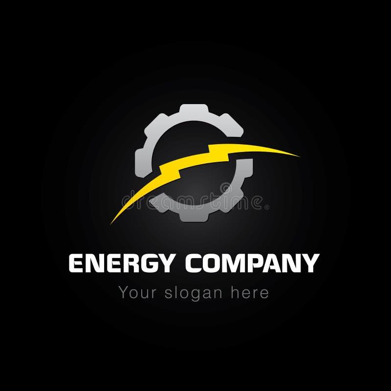 Energiföretagslogo royaltyfri illustrationer