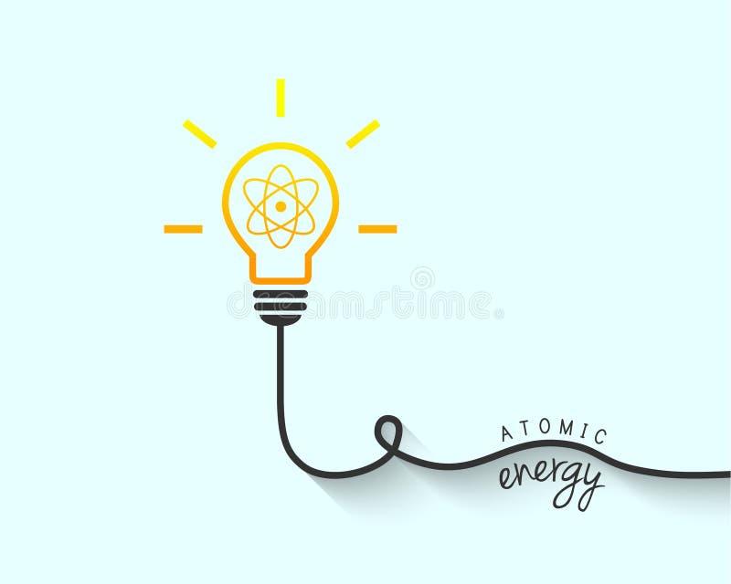 Energii atomowej pojęcie ilustracja wektor