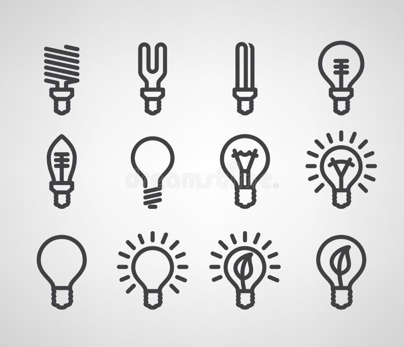 Energii i zasoby ikony set ilustracji