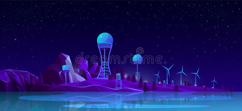 Energii odnawialnej pokolenia kreskówki wektoru pojęcie ilustracji