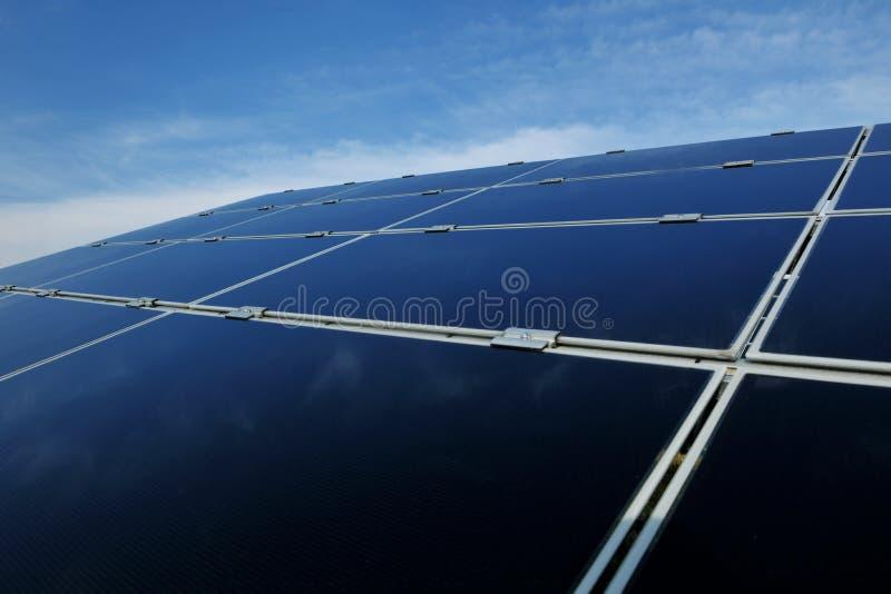 energii pola panelu odnawialny słoneczny zdjęcie royalty free