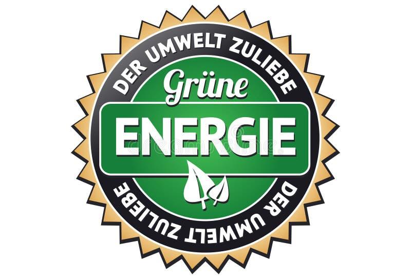 energii zieleni etykietka ilustracja wektor