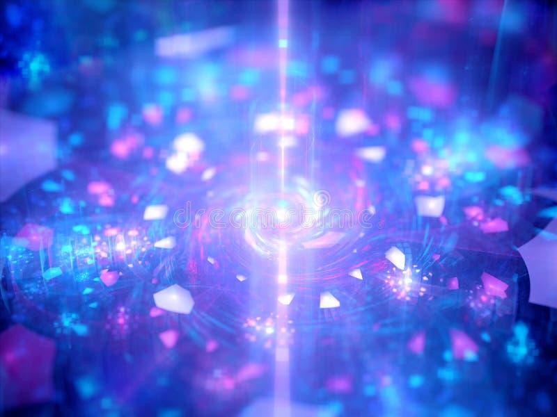 Energikälla med magiska partiklar royaltyfri illustrationer