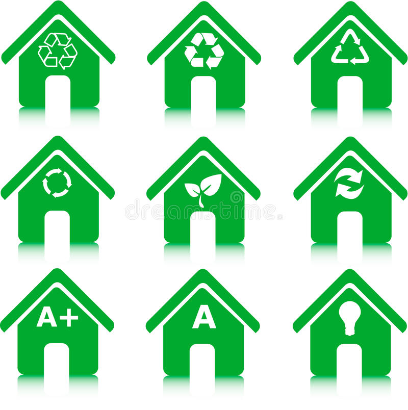 energimiljön återanvänder sparande stock illustrationer