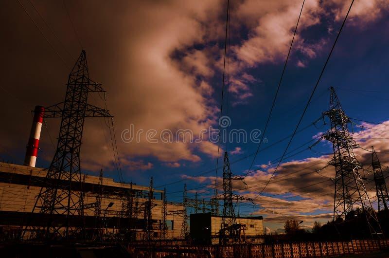 Energiproduktion royaltyfri fotografi