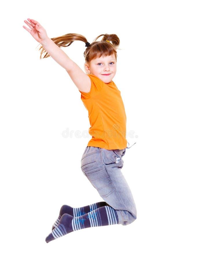 Energisches kleines Mädchen lizenzfreie stockfotos