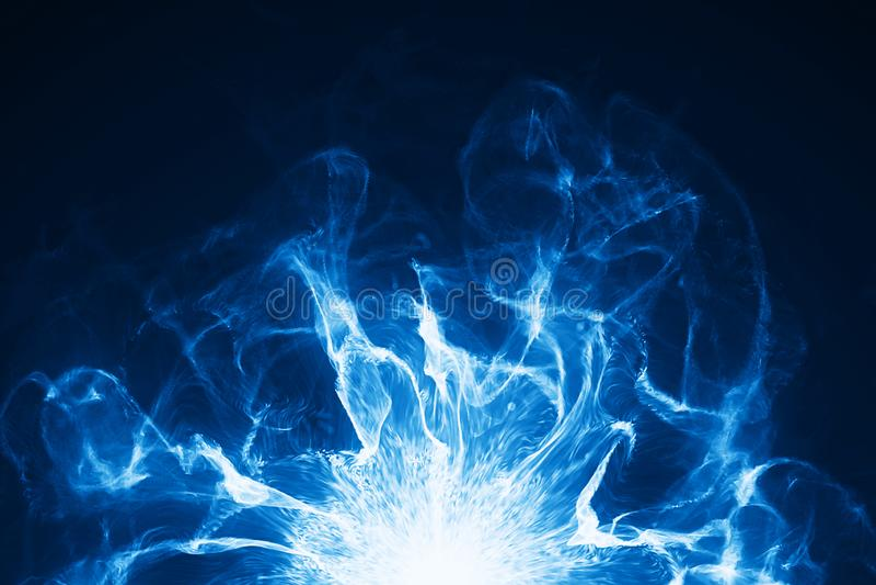 Energistorm med brand royaltyfri illustrationer