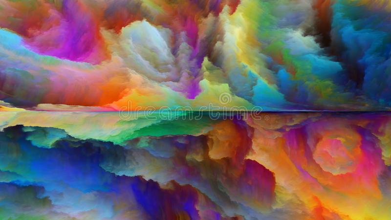 Energy of Abstract Landscape vector illustration